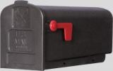 BLACK POLY RURAL MAILBOX