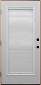 3068 Full View Steel with Mini Blinds IS Prehung Double Bored Door Right Hand