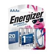 Energizer L92SBP-8 AAA Batteries, 8 Pack