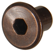 """Antique Bronze Joint Connector Nuts (1/4""""-20)"""
