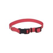 "3/4"" Adjustable Red Nylon Collar, 14""-20"""