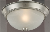 2 Light Flush Ceiling Fixture, Brushed Nickel