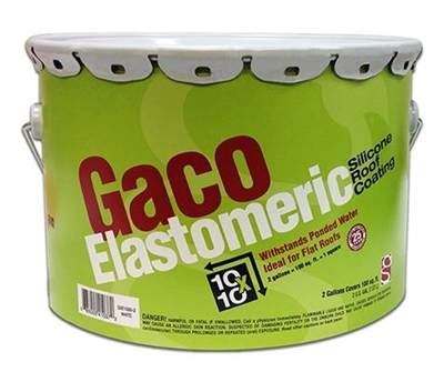 Shop Gaco Elastomeric Silicone Roof Coating 2 Gallons At Mccoy S