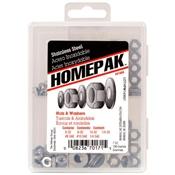 HOMEPAK Stainless Steel Nuts & Washers Assortment Kit