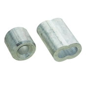 National Hardware V3231 Series N283-879 Ferrule and Stop, 1/4 in Dia Cable, Aluminum