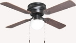 "Aegean 42"" Flush Mount Ceiling Fan With Light Kit, Classic Bronze"