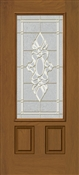3068L 3/4 View Heirloom Fiberglass Singlehung Door