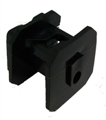 Wood Post Economy Square Insulator, Black - 25 Pack