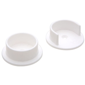 "1-3/8"" Plastic Closet Pole Socket, White"