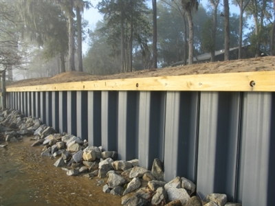 Shop 8 325 Corrugated Seawall Panel Clay At Mccoy S
