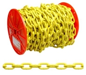 "3/16"" Yellow Polymer Proof Chain 100'"