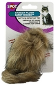 Shaggy Plush Giant Mouse Cat Toy