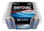 Rayovac 815-30PPTK AA Batteries, Recloseable Container, 30 Pack