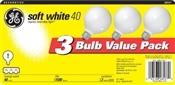 Globe G25 40 Watt Soft White3 Pack