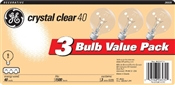 Globe G25 40 Watt Crystal Clear 3 Pack