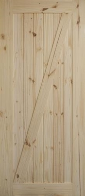 "2870 Knotty Pine ""Z""  Barn Door"