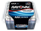 Rayovac 824-30PPTK AAA Batteries, Recloseable Container, 30 Pack
