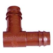 Rain Bird BE50/4PK Non-Threaded Drip Irrigation Elbow, 1/2 in Barb, 0 to 50 psi, Plastic