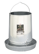 "Galvanized Hanging Poultry Feeder With 14"" Feeder Pan"