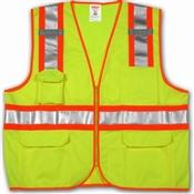 Class 2 Surveyor Style High Visibility Vest Lime Small/Medium