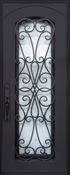 "3369 Amorosa ""Hammered Water"" Glass Antique Bronze Patina Finish Iron Door Right Hand"