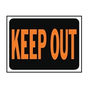 SIGN KEEP OUT 9X12IN PLASTIC