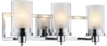 Avalon 3 Light Wall Sconce, Chrome Finish