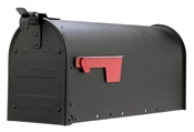 Black Post Mount Rural Mailbox