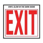 """""""Exit"""" Glow IN THE DARK VINYL SIGN 10""""X12"""""""