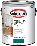Interior Flat Ceiling Paint, Whte, 1 Gallon