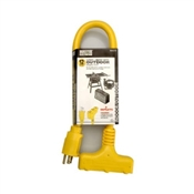 12/3 Extension Cord 3 Outlet Yellow 2'