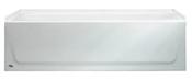 """Aztec 60"""" Porcelain Enameled Steel Right Hand Tub - White"""