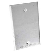 One Gang Blank Receptacle Cover - White