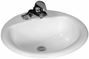 "20 x 17"" Oval China Lavatory, White"