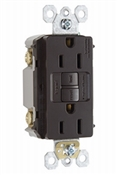 15 Amp GFCI Duplex Outlet With Self Testing Feature & Matching Wall Plate