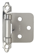Self-Closing Flush/Overlay Cabinet Hinge Contractor Pack - Satin Nickel