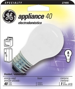 40 Watt A15 Frosted Appliance Bulb