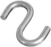 "1-1/2"" Open S-Hook, Stainless"