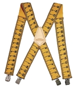 """2"""" Wide Yellow Ruler Suspenders"""
