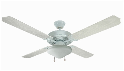 "52"" Jamaica Outdoor Ceiling Fan, White"