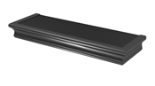 "18"" Black Beveled Edge Floating Shelf"
