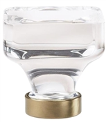 1-3/8 in (35 mm) Length Knob - Clear/Golden Champagne