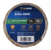 "1/4"" X 100' Twisted Sisal Rope, Natural"