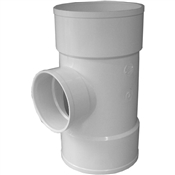 "6""x6""x4""PVC S&D Reducing Bull Nose Tee(HxHxH)"