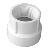 "1-1/2""x1-1/4"" PVC-DWV Female Adapter (HubxFIP)"
