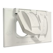 One Gang Metal Duplex Cover - White
