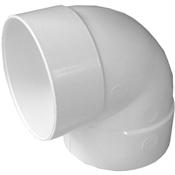 "4"" PVC S&D 90° Short Turn Elbow (HubxHub)"
