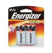9V Alkaline Battery, 2 Pack