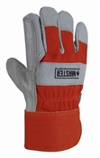 Master Rancher, Large, Men's, Double Leather Palm, Safety Cuff Work Glove