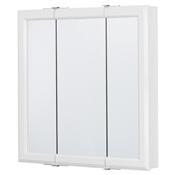 """24"""" Tri-View Medicine Cabinet in White Finish"""
